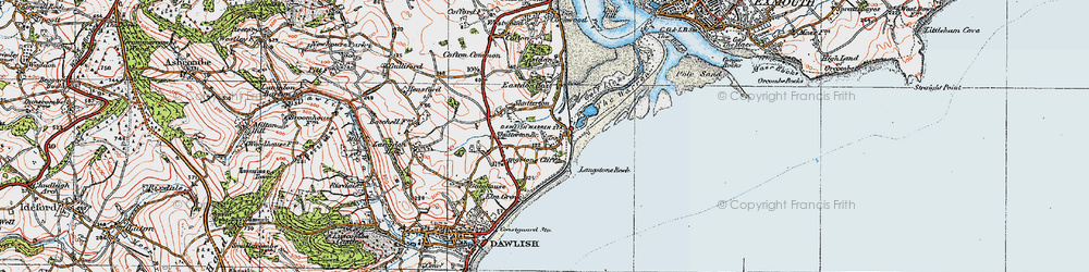 Old map of Langstone Rock in 1919