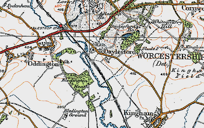 Old map of Daylesford in 1919