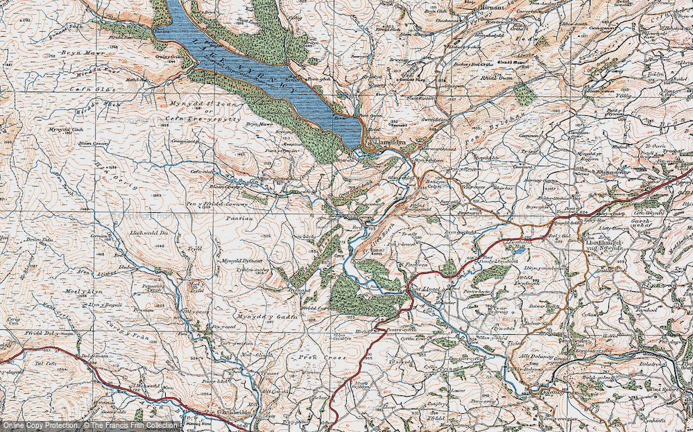 Old Map of Historic Map covering Yr Allt-Boeth in 1921