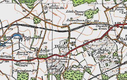 Old map of Ashe Park in 1919