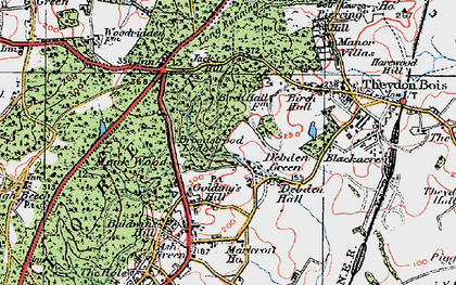 Old map of Woodbury Hollow in 1920