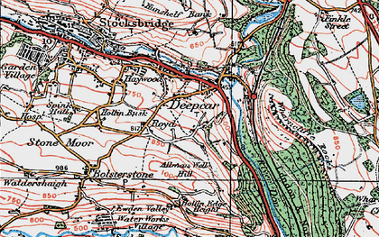 Old map of Allman Well Hill in 1924