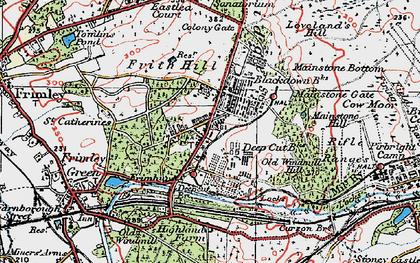 Old map of Deepcut in 1919
