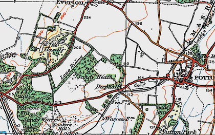 Old map of Deepdale in 1919