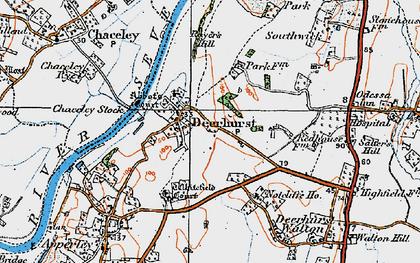 Old map of Deerhurst in 1919