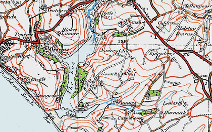 Old map of Degibna in 1919