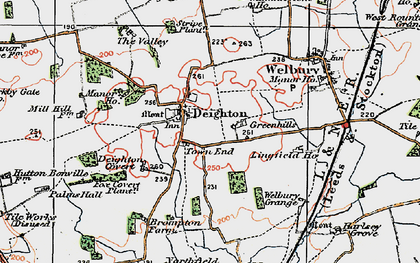 Old map of Wray Ho in 1925