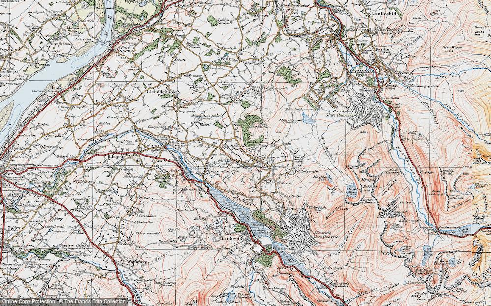 Old Map of Deiniolen, 1922 in 1922