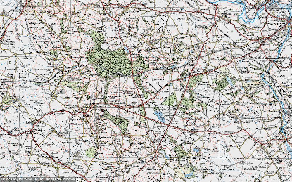 Old Map of Historic Map covering Abbeywood in 1923