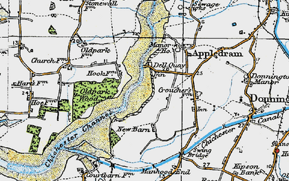 Old map of Dell Quay in 1919