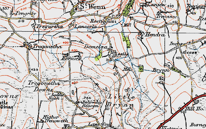 Old map of Demelza in 1919