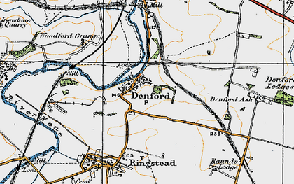 Old map of Denford in 1920