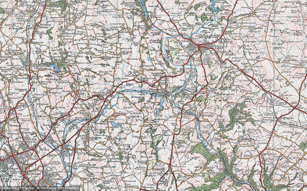 Old Map of Historic Map covering Bank End in 1921
