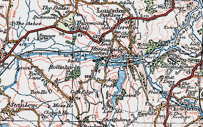 Old map of Bank End in 1921