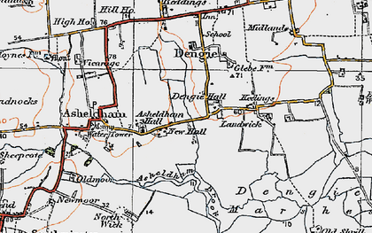 Old map of Bacons in 1921