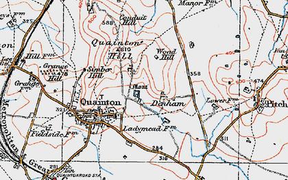 Old map of Denham in 1919