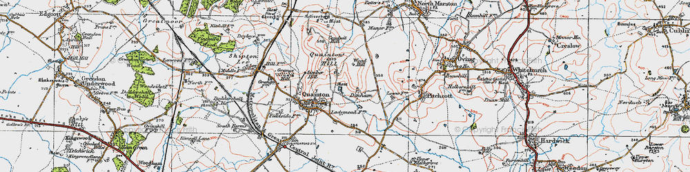 Old map of Woad Hill in 1919