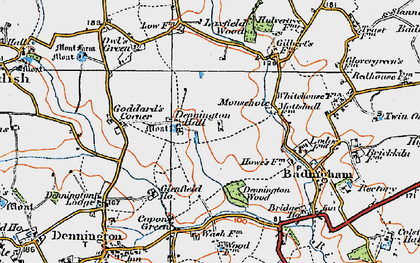 Old map of Badingham in 1921