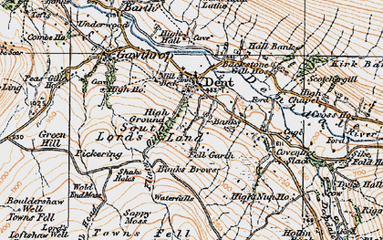 Old map of Whernside Manor in 1925