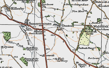 Old map of Fanny Barks (Fox Covert) in 1925