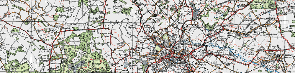 Old map of Windle Hall in 1923