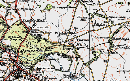 Old map of White Cross in 1926