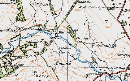 Old map of Winnowshill in 1925