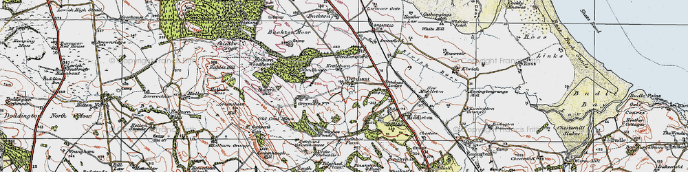 Old map of Tilesheds Wood in 1926