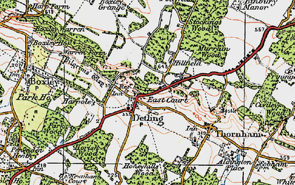 Old map of Detling in 1921