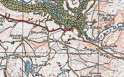 Old map of Banc y Bont in 1922