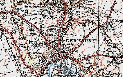 Old map of Dewsbury in 1925