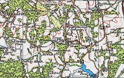 Old map of Windfallwood Common in 1920