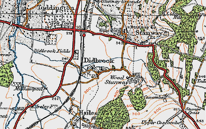 Old map of Didbrook in 1919