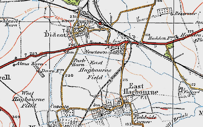 Old map of Didcot in 1919