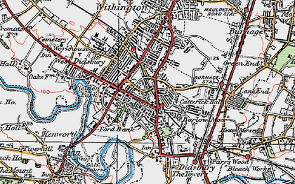 Old map of Didsbury in 1923