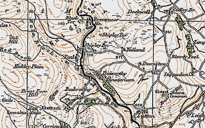 Old map of Avon Dam Reservoir in 1919