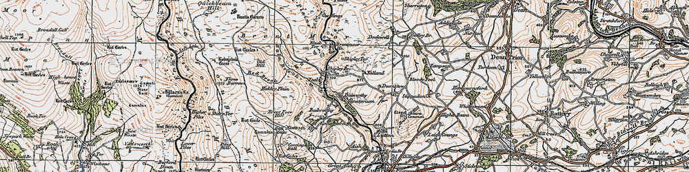 Old map of Woolholes in 1919