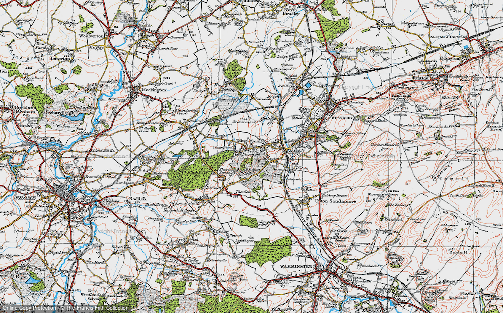 Old Map of Dilton Marsh, 1919 in 1919