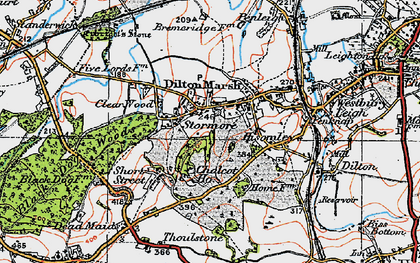 Old map of Dilton Marsh in 1919