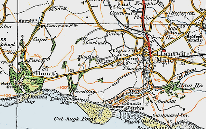 Old map of Tir Abad in 1922