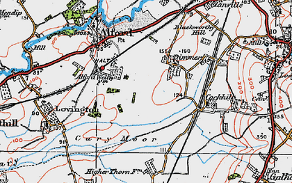 Old map of Alford Fields in 1919