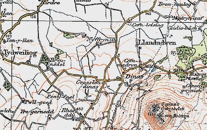 Old map of Wyddgrug in 1922