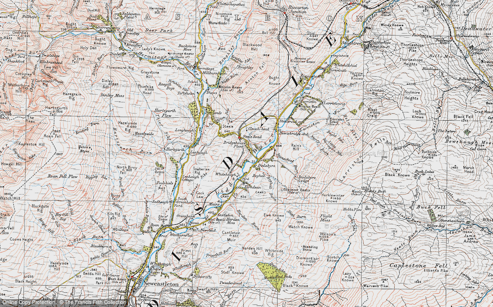 Old Map of Historic Map covering Leahaugh in 1925