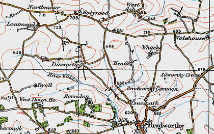 Old map of Whitely in 1919