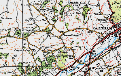 Old map of Willey Place in 1919