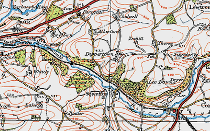 Old map of Allerford in 1919