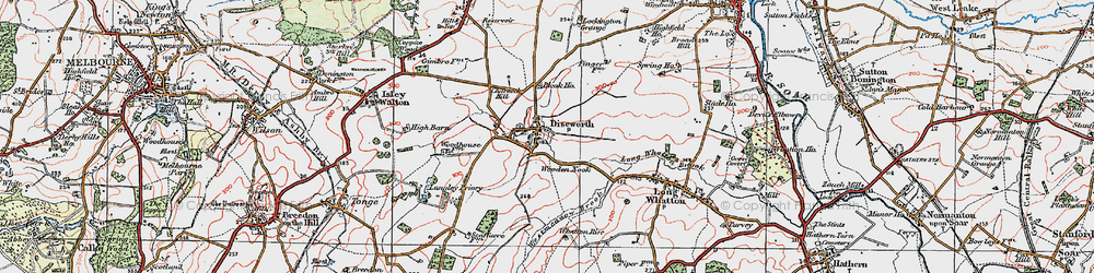 Old map of Westmeadow Brook in 1921