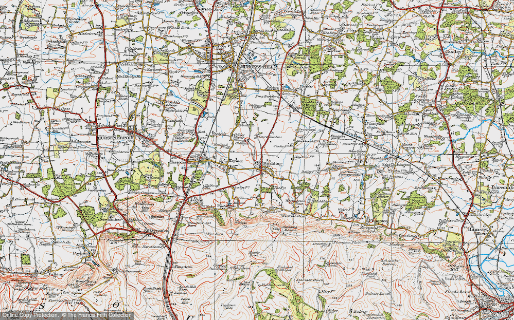 Old Map of Ditchling, 1920 in 1920