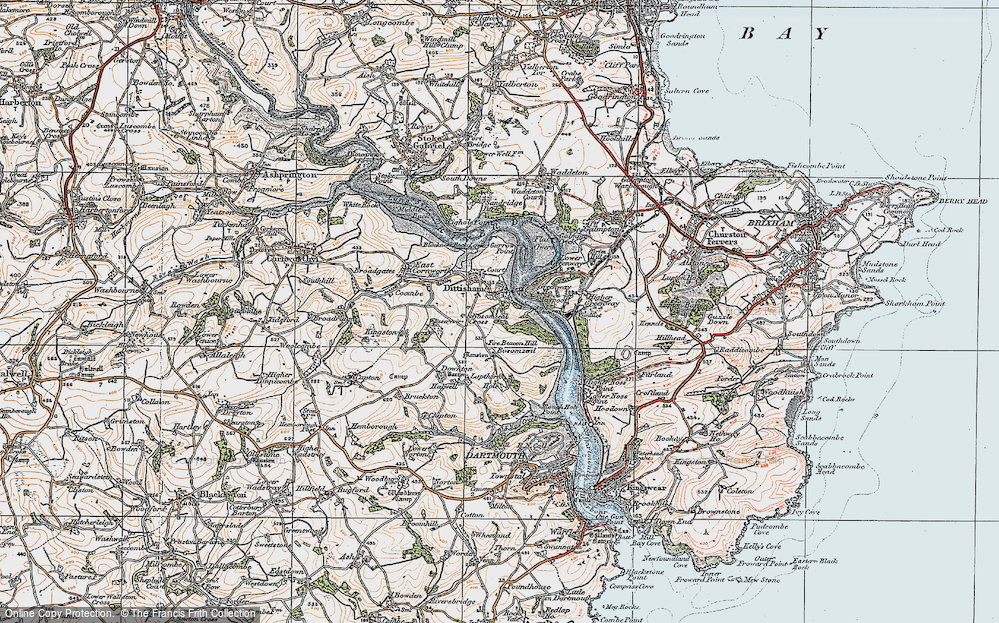 Old Map of Historic Map covering Lapthorne in 1919