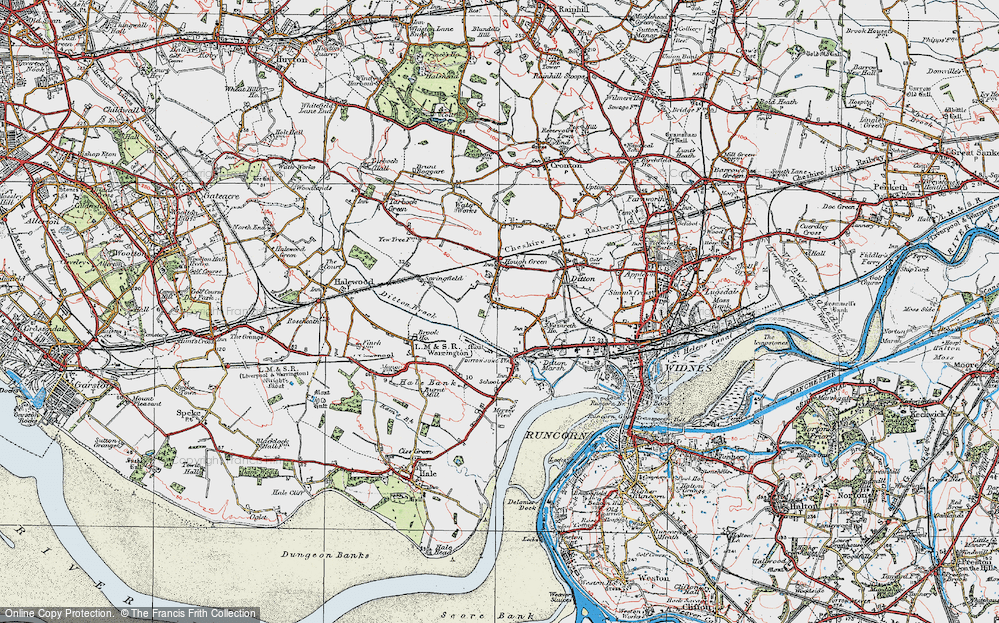 Old Map of Ditton, 1924 in 1924
